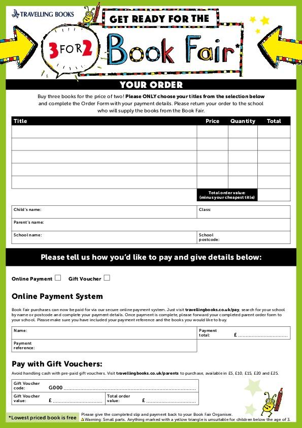 Book Fair Order Form